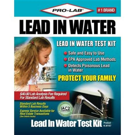 pro lab lead in water test kit lw107 the home depot