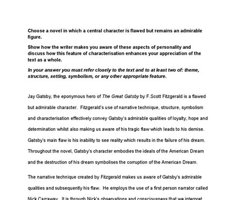 gender analysis in the great gatsby free great gatsby essays american dream
