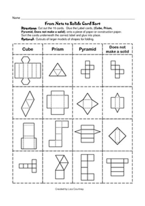 www geometry nets to solids card sort geometry geometric shapes by