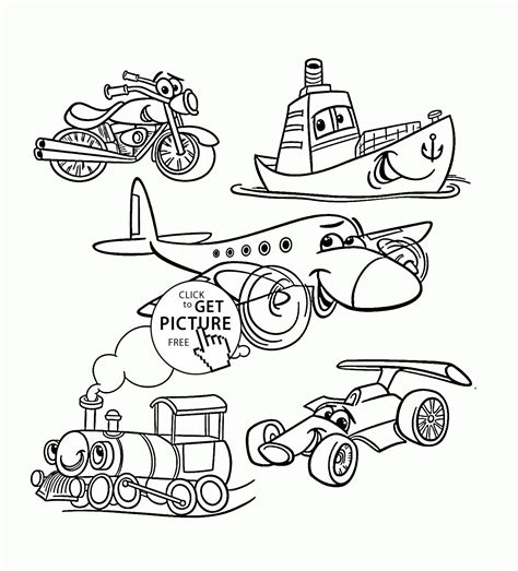 transportation coloring pages for toddlers transport set coloring page for toddlers