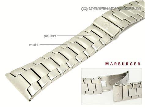 Metall Uhr Polieren by Uhrenarmband 28mm Edelstahl Massiv Optik Teilweise Poliert