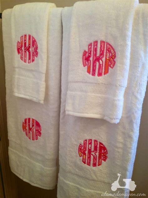 bathroom napkins lily pulitzer inspired monogrammed towels college bound