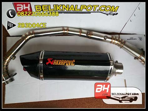 Knalpot Racing Custom Akra Carbon For Aerox knalpot racing sonic akrapovic carbon harga knalpot motor racing jual knalpot racing