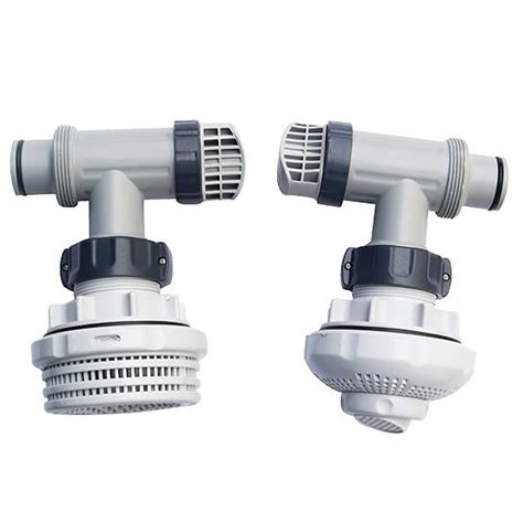 Outet Set intex 1 5 inch above ground pool inlet outlet strainer fittings set 26073rp ebay
