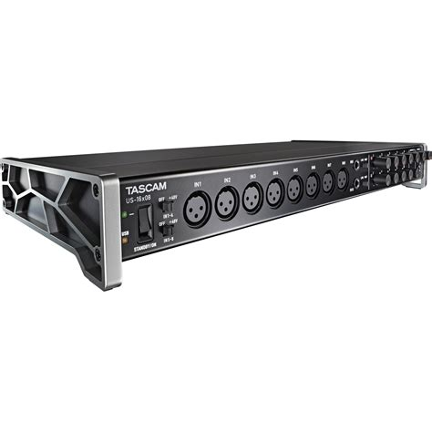 Rack Mount Usb Audio Interface Tascam Us 16x08 Usb Audio Midi Interface Us 16x08 B Amp H Photo