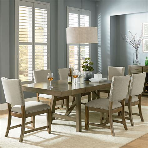 Furniture Omaha by Standard Furniture Omaha Grey 7 Trestle Table Dining
