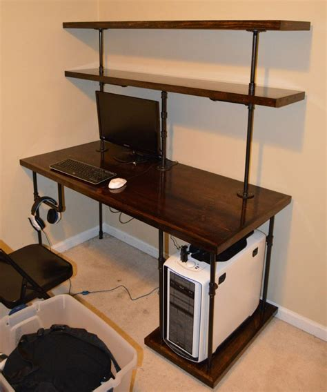 diy computer desk 25 best ideas about desk shelves on pinterest desk