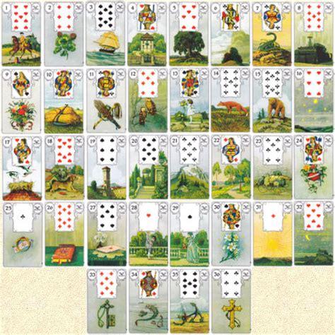 lenormandkarten grosse tafel die lenormand karten