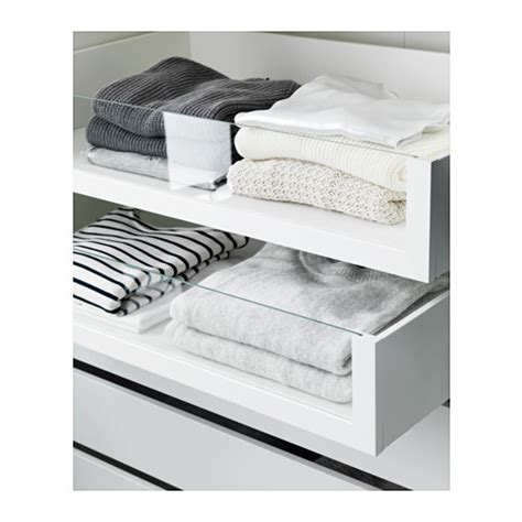 ikea pax schublade komplement drawer with glass front white 100x58 cm ikea