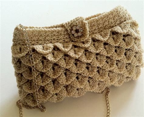 crochet pattern crocodile stitch bag crochet pattern for clutch purse evening bag crocodile