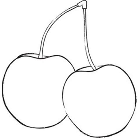 Cherry Clipart Image   Coloring page outline drawing of
