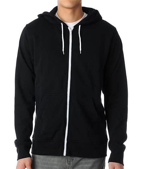 zine template black solid hoodie