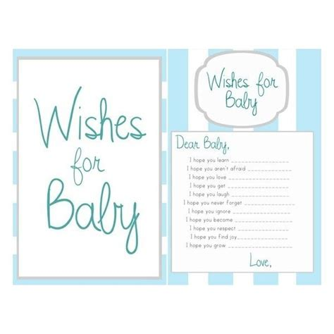 baby shower wish cards template ideas wishes for baby boy template found on polyvore