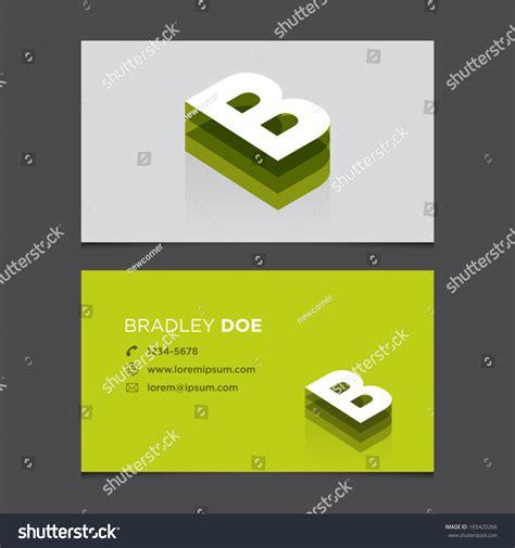 b card template business card template alphabet letter b stock vector