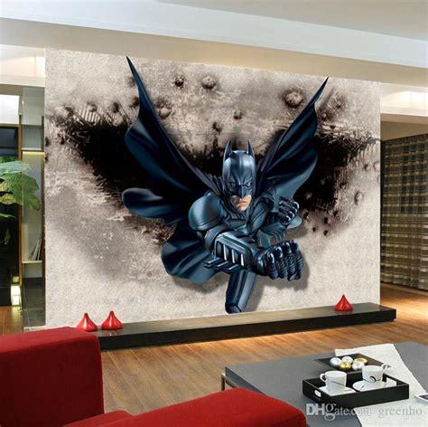batman wallpaper decor 3d batman wallpaper custom photo wallpaper super hero wall