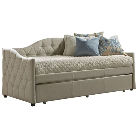upholstered day bed daybeds jaylyn upholstered daybed w trundle rotmans
