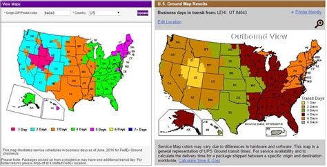 ups transit map fedex vs ups part 2 which should you use idrive logistics