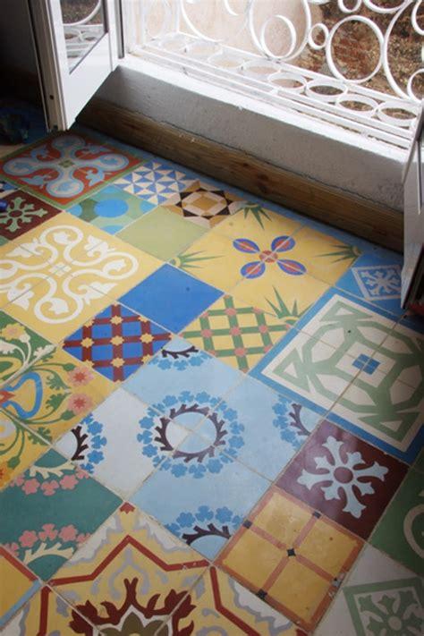 Patchwork Cement Tile - tile vault cuban cement tiles apartment therapy