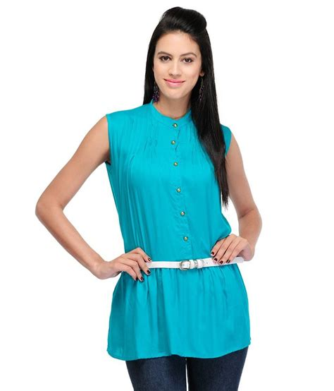 Tunik Rayon 1 buy velena blue rayon tunics at best prices in india snapdeal