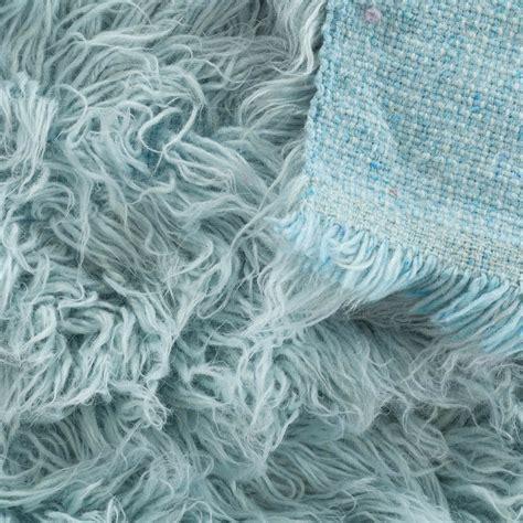 blue flokati rug buy flokati rug 1400g m2 140x200cm blue the real rug company