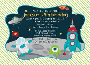 Outer Space Decorations Birthday Party Invitations For Boys Drevio Invitations