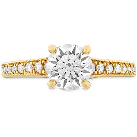 Dia Engagement Rings by Liliana Milgrain Engagement Ring Dia Band