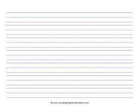 How To Learn To Write Essays by Children Who Are Just Learning To Write Need Paper With Big Wide Lines And A Midline To Help