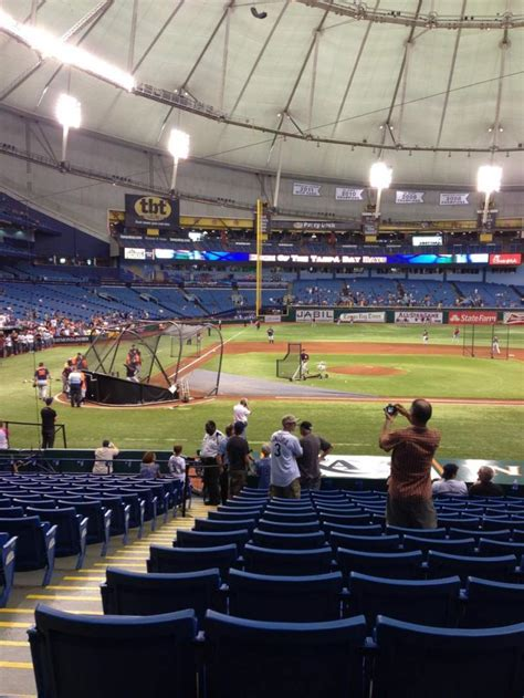 tropicana field section  home  tampa bay rays