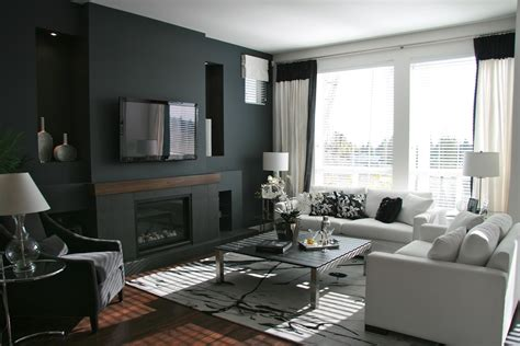 gray paint color scheme with cozy white sofas living spaces 15 there s no place like