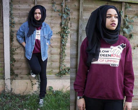 Reebok Royal Flag Global Denim saima chowdhury al madina hijabs black route 786