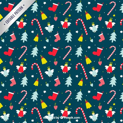 cute christmas pattern hand drawn cute christmas pattern vector free download
