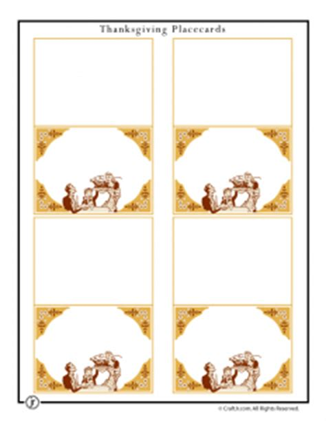Thanksgiving Seating Card Template by Printable Thanksgiving Placecards Decorations Woo Jr