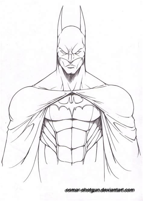 doodle line drawings batman line by osmar shotgun on deviantart