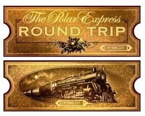 Polar express film movie reproduction golden train ticket
