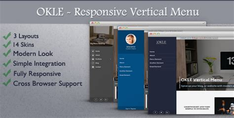 wordpress vertical layout okle responsive vertical menu for wordpress by