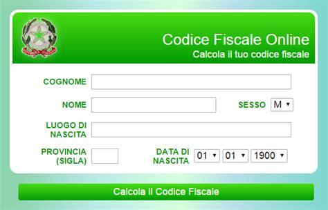 lettere codice fiscale il meglio di potere calcolo codice fiscale stranieri