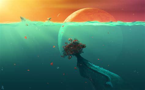 deep ocean planet fish hd digital universe  wallpapers