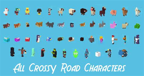 All The Mystery Characters In Cross Road | crossy road video games notessimo