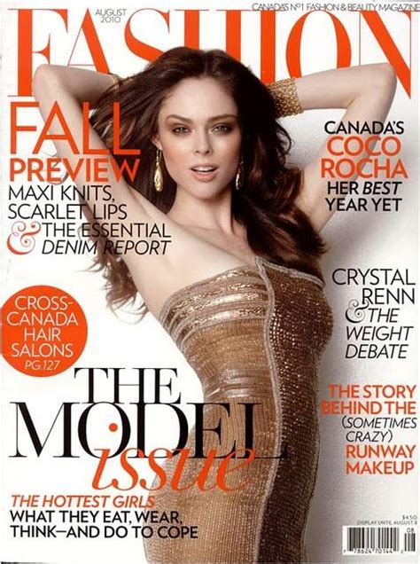 To Be A Magazine Cover Model coco rocha for fashion magazine august 2010