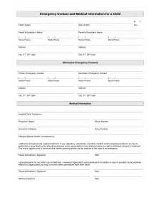 emergency contact form template printable emergency contact form template random