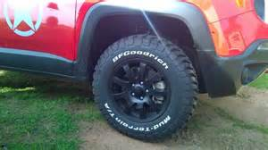 Trailhawk Largest Tires Tires You Can Fit On Lifted Th Jeep Renegade Forum