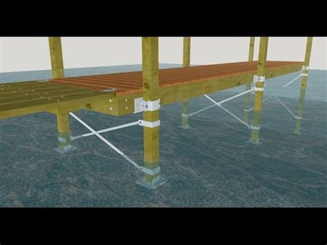 how to build a boat dock roof building a dock with wood posts 3d animation youtube