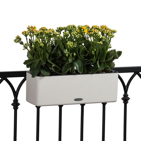 farbissina  watering railing planter white