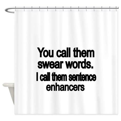 curtains with words on them you call them swear words shower curtain by terriblycrazytees