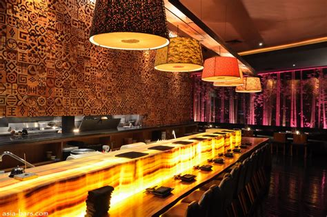 lighted bar tops blowfish kitchen bar contemporary japanese dining