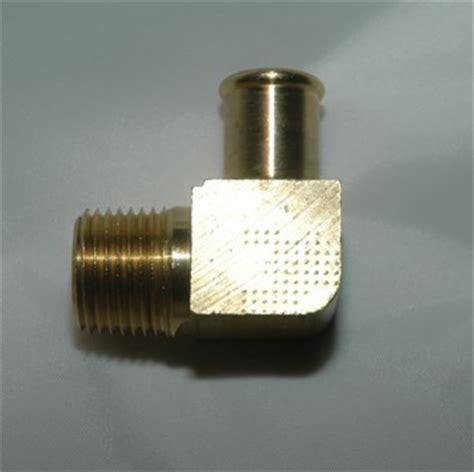 beaded hose barb fittings 90 hose brass