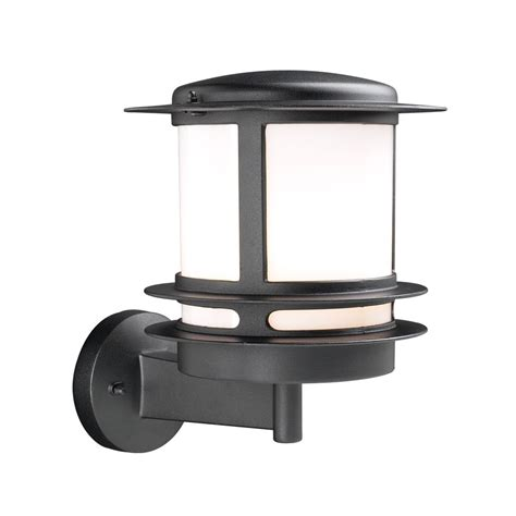 Modern Outdoor Wall Light With White Glass In Black Finish Modern Outdoor Wall Lights
