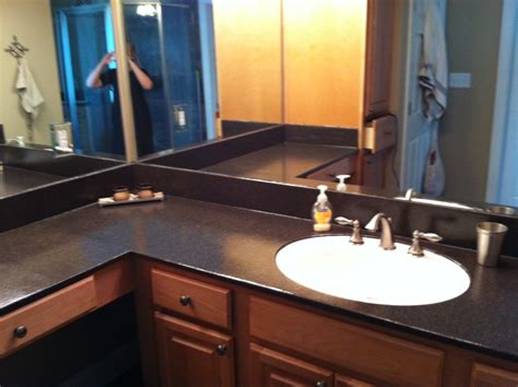 Java Countertop Transformations by Budget Covering Burn Spots On The Bathroom Counter