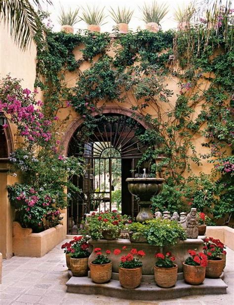 mexican garden landscaping and flowers