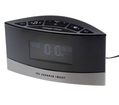 thesharperimage sound soother alarm clock with 20 soothing sounds page 1 qvc